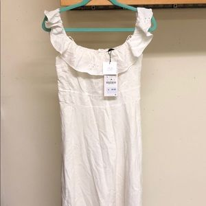 White Zara dress, new with tags on.